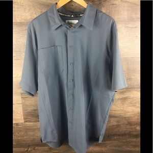 Adidas short sleeve front button collared shirt